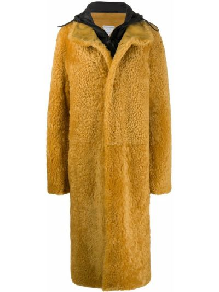 Пальто оверсайз - желтое Bottega Veneta
