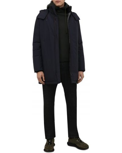 Синяя кашемировая куртка Ermenegildo Zegna