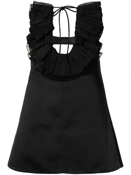 Czarna sukienka z wiskozy bez rękawów Shushu/tong