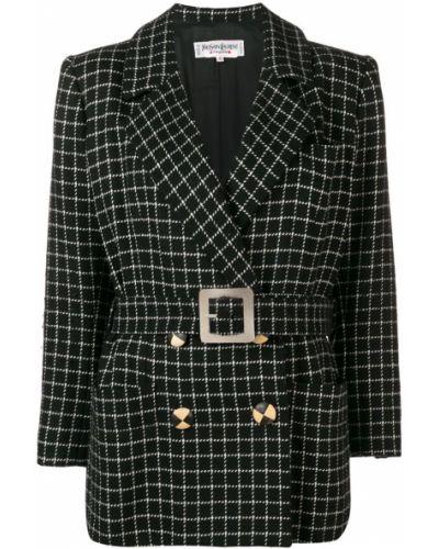 Шерстяной пиджак - черный Yves Saint Laurent Vintage