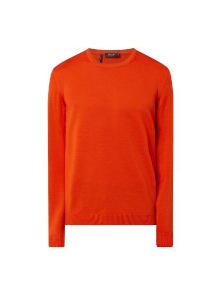 Prążkowany pomarańczowy sweter wełniany Maerz Muenchen