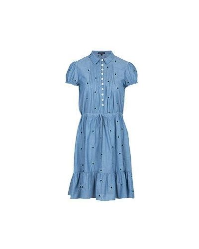 Платье хлопковое платье-сарафан Emporio Armani