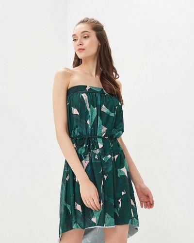 Прямое зеленое платье Femi Stories