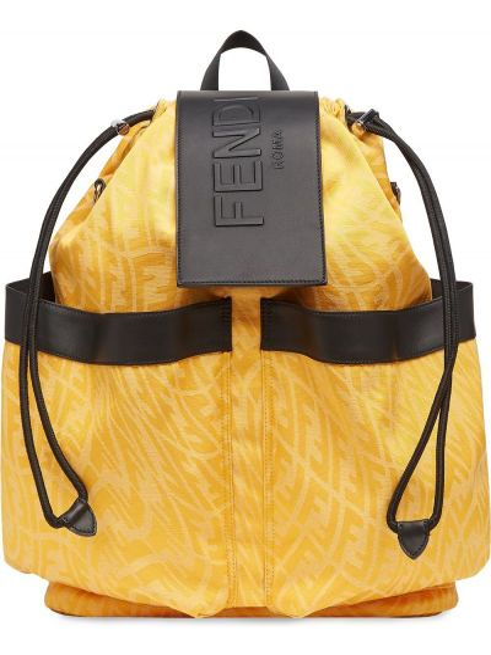 Plecak skórzany - czarny Fendi