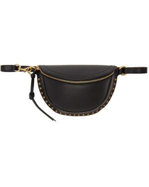 Skórzana torebka worek włóczęgi wytłoczony Isabel Marant