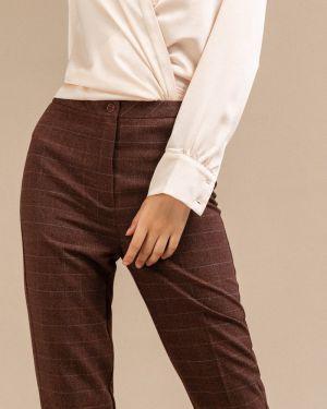 Классические брюки в клетку с завышенной талией Emka