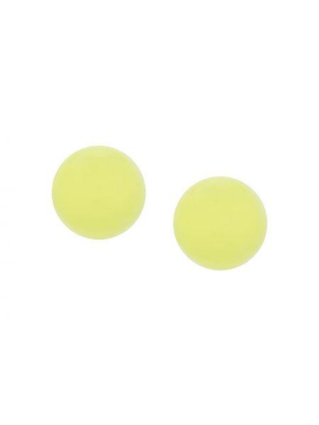 Zielone kolczyki sztyfty Monies