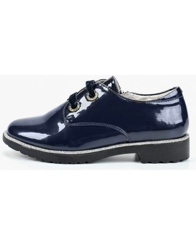 Туфли лаковые синие котофей