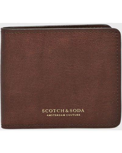 Кошелек кожаный коричневый Scotch & Soda
