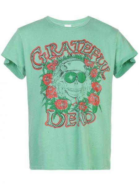 Zielony t-shirt bawełniany krótki rękaw Madeworn