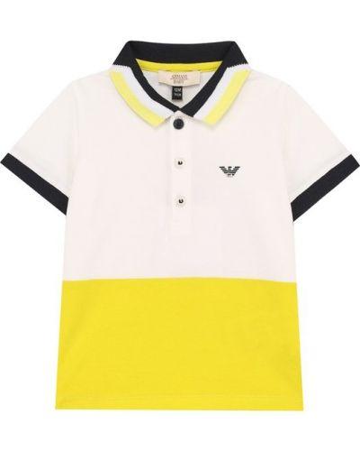 Желтое хлопковое поло Armani Junior