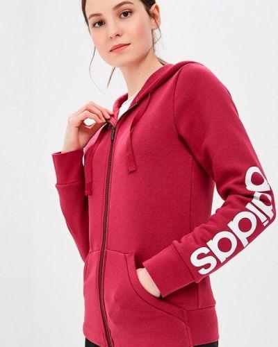 Толстовка 2019 бордовый Adidas