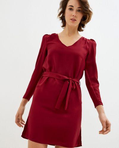 Прямое красное платье Naf Naf