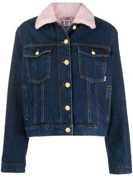 Синяя джинсовая куртка на пуговицах Gcds