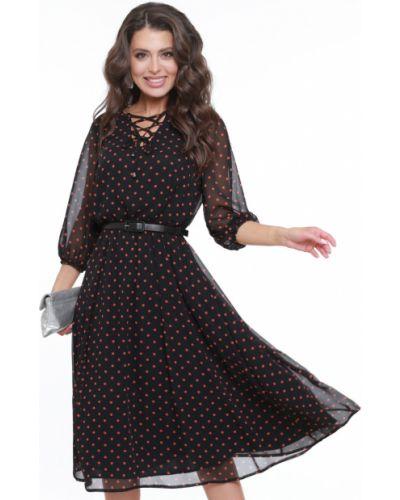 Тонкое платье с декольте на шнуровке на торжество Dstrend