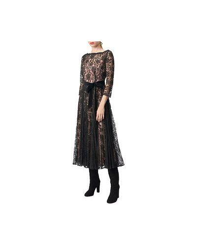 Черное коктейльное платье Luisa Spagnoli