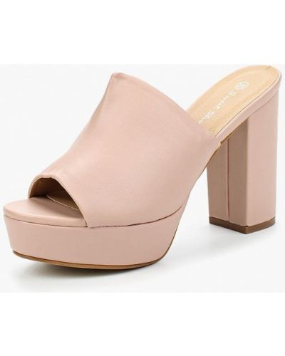 Розовое сабо кожаные Sweet Shoes