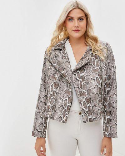 Кожаная куртка - коричневая авантюра Plus Size Fashion