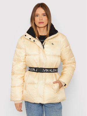 Kurtka puchowa - beżowa Calvin Klein Jeans