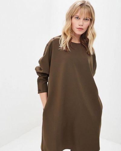 Платье осеннее зеленый Lavlan