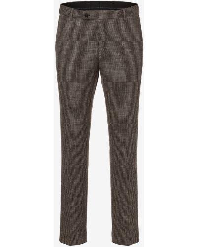 Brązowe spodnie eleganckie Finshley & Harding