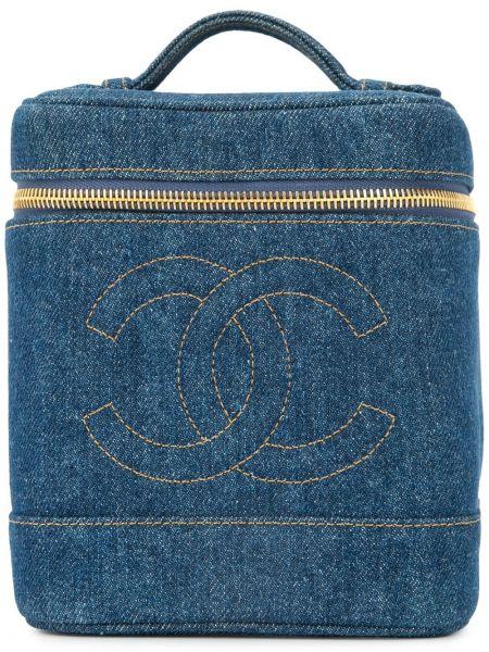 Сумка круглая джинсовая Chanel Pre-owned