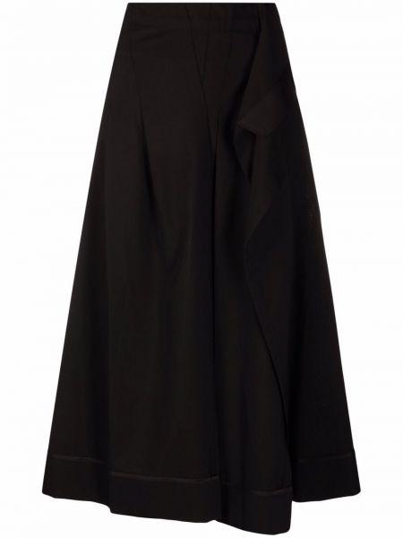 Черная юбка из полиэстера Sacai