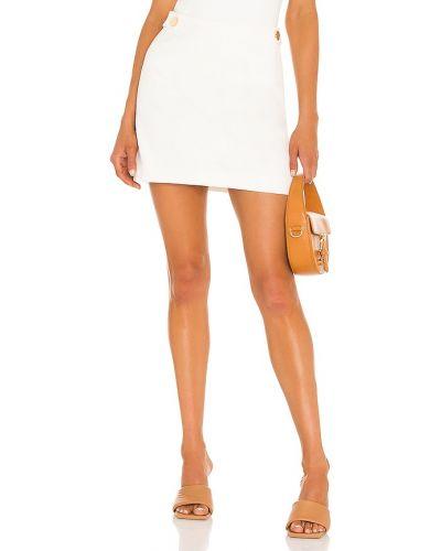 Satynowa biała spódniczka mini Milly