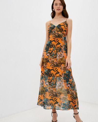Оранжевый сарафан Trendyol