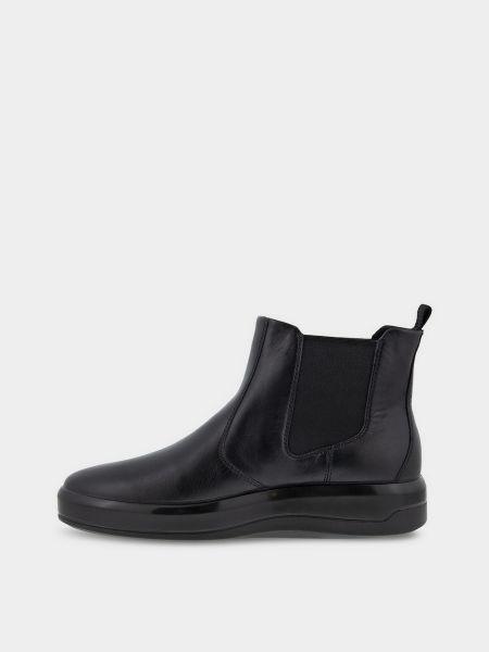 Кожаные ботинки челси - черные Ecco