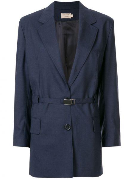 Синий пиджак с манжетами Maison Kitsuné
