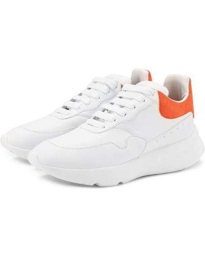 Кожаные кроссовки замшевые на шнуровке Alexander Mcqueen