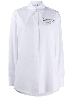 Baza bawełna bawełna czarny koszula Off-white