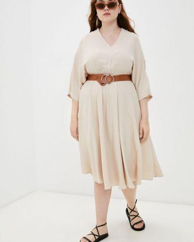 Бежевое повседневное платье Grafinia