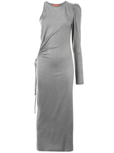 Акриловое платье на одно плечо с драпировкой с вырезом Manning Cartell