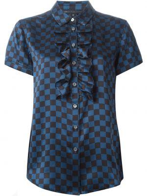 Шелковая блузка - синяя Marc By Marc Jacobs