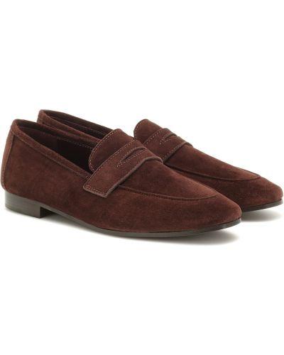 Brązowe loafers skorzane Bougeotte