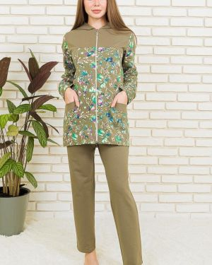 Домашний костюм из футера с цветочным принтом Lika Dress