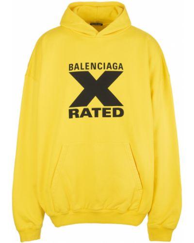 Bawełna bawełna sweter z kapturem Balenciaga