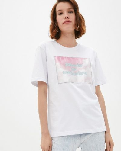 Белая футболка с короткими рукавами Chiara Ferragni Collection