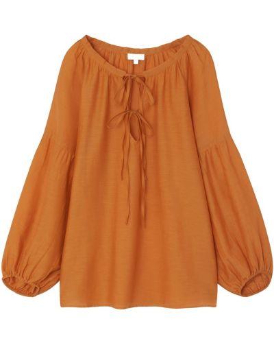Свободная шелковая блузка свободного кроя Gerard Darel
