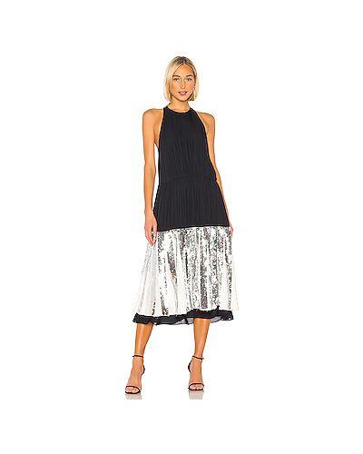 Платье миди с пайетками плиссированное Tibi