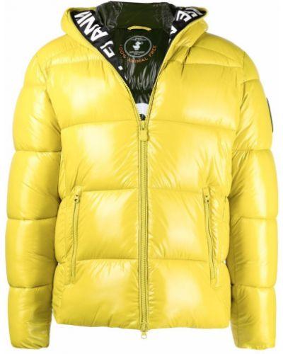 Желтая куртка длинная Save The Duck