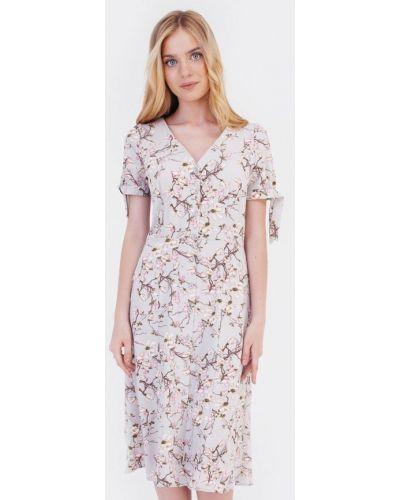 Прямое серое платье Bessa