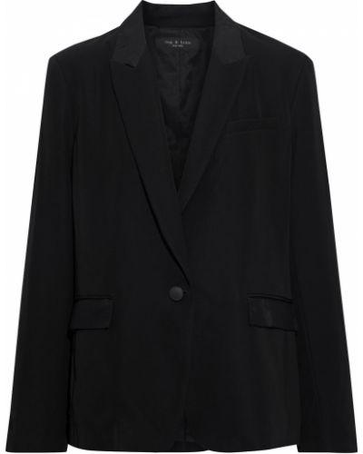 Шерстяной черный пиджак с карманами Rag & Bone