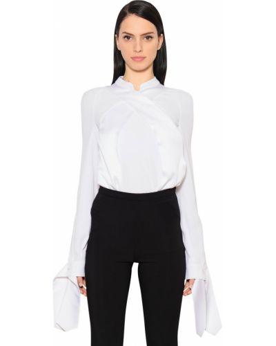 Блузка атласная - белая Antonio Berardi