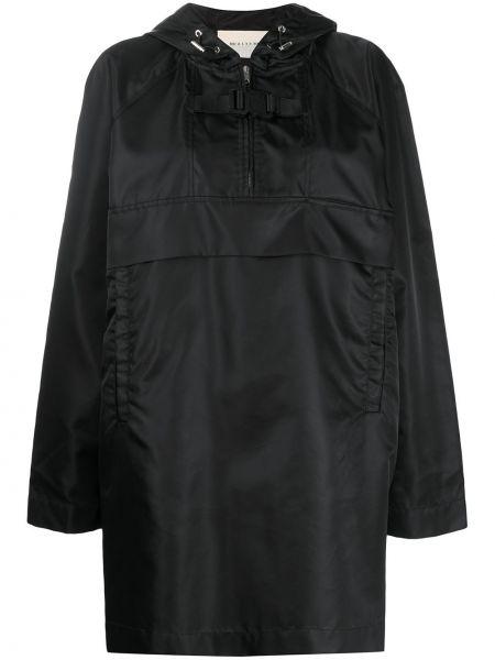 Свободное черное длинное пальто с капюшоном 1017 Alyx 9sm