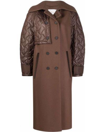 Шерстяное пальто - коричневое Tela