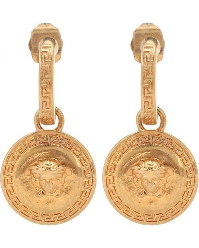 Золотые серьги серьги-кольца серьги-гвоздики Versace