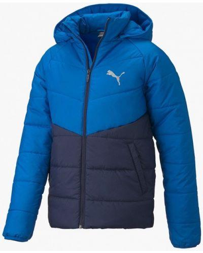 Утепленная синяя куртка Puma